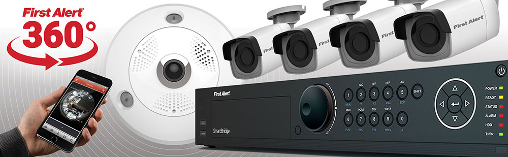 first alert smartbridge 360 degree security camera system