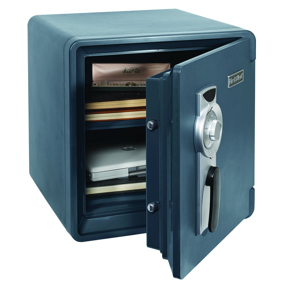 First Alert 1.3 Cu. Ft. Combination Waterproof and Fire Resistant Bolt-Down Safe with Ready-Seal Technology - 2092F-BD