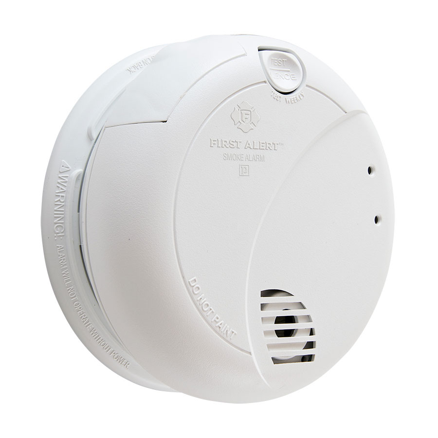 First Alert Hardwired Photoelectric Smoke Alarm with Battery Backup 7010B
