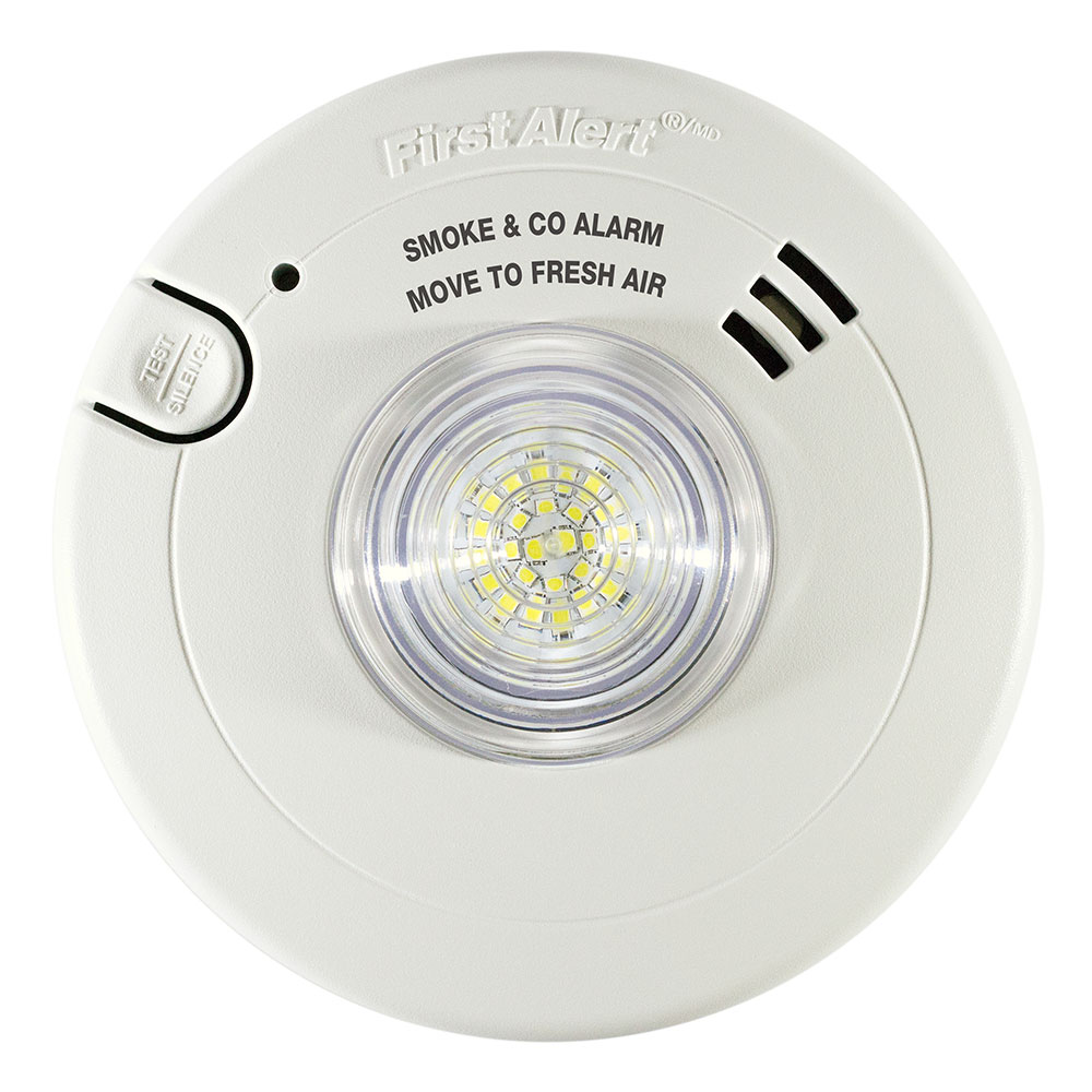 First Alert 7030BSL Hardwired Smoke & CO Alarm with LED Strobe Light (1038870)