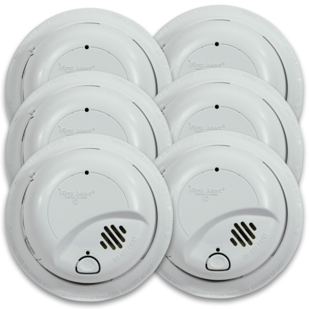First Alert Hardwired Smoke Alarm with Battery Backup - Contractor Pack (48 pack, individually boxed) - 9120B-48P