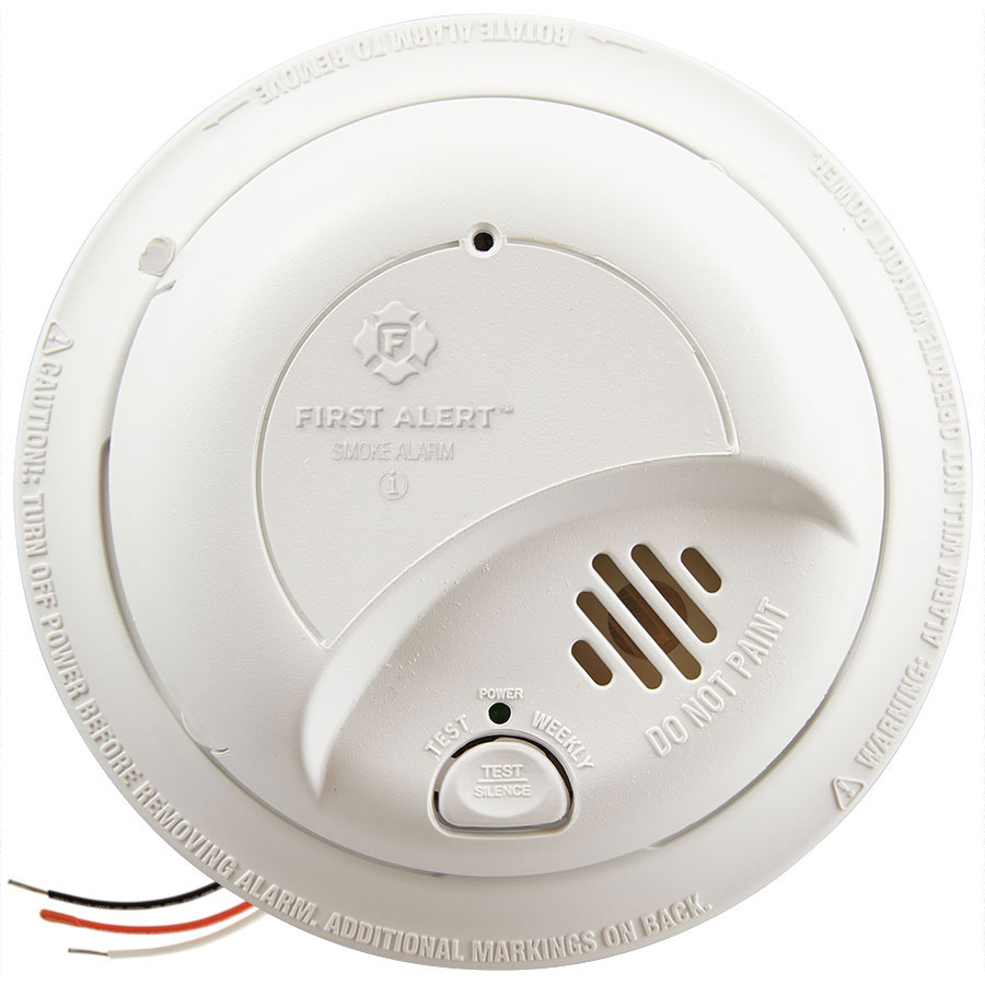 First Alert Hardwired Smoke Alarm with Battery Backup, 9120B