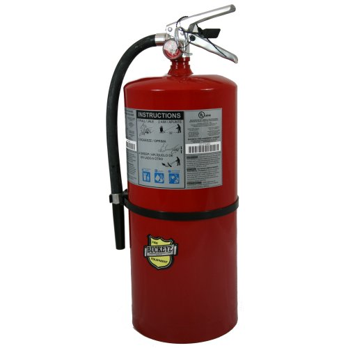 First Alert Rechargeable Heavy Duty Commercial Fire Extinguisher UL Rated 20-A:120-B:C (Red)