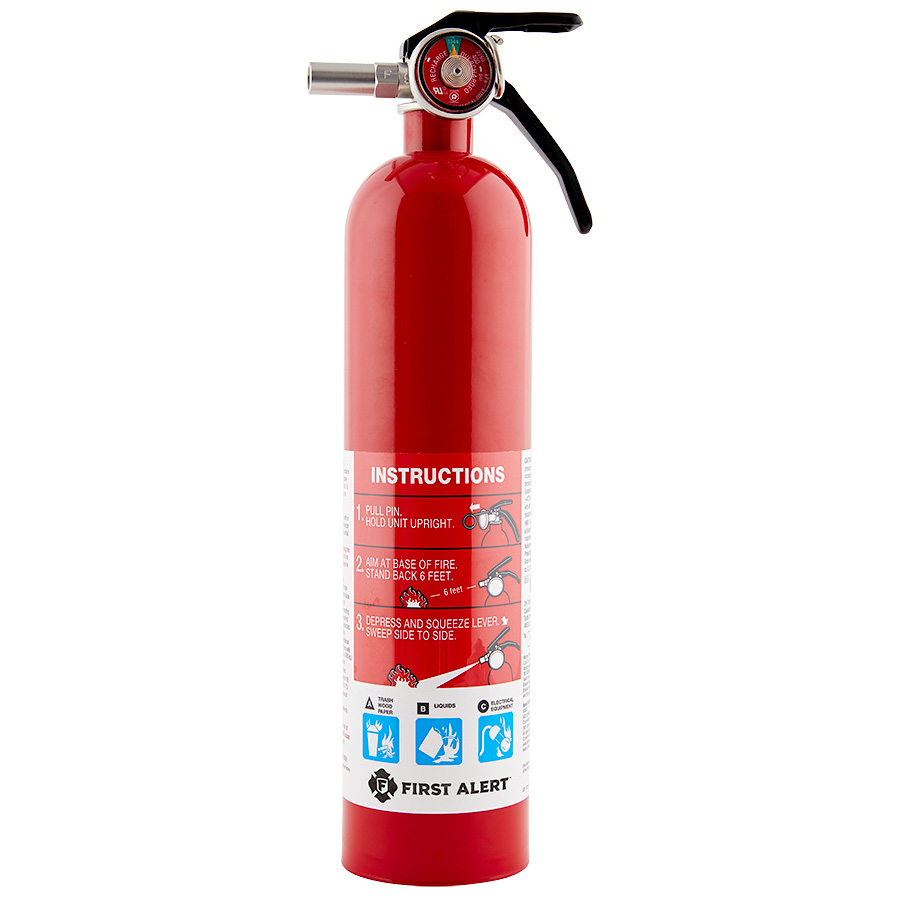 First Alert 1038789 Rechargeable Home Fire Extinguisher UL Rated 1-A, 10-B:C