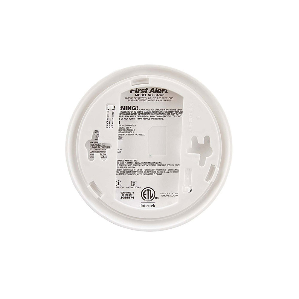 First Alert Smoke Alarm with Smart Sensing Technology and Nuisance Resistance - SA320CN (1039828)