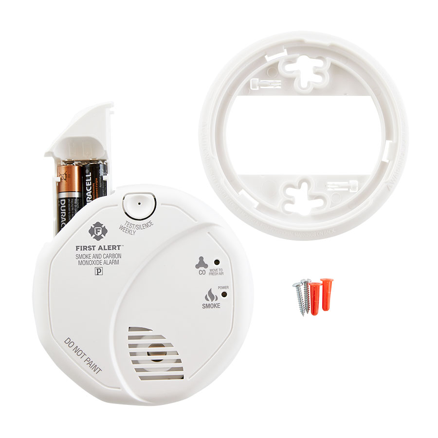 3 Pack Bundle of Battery Operated Combination Smoke and Carbon Monoxide Alarm, SCO5CN