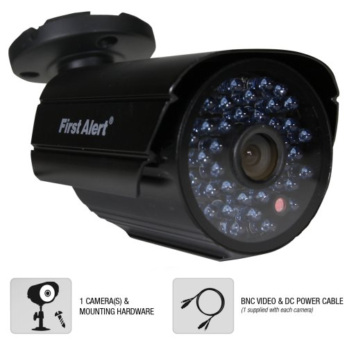 First Alert SmartBridge Digital Wired Indoor and Outdoor Night Vision 600-TVL Security Camera (CM600)