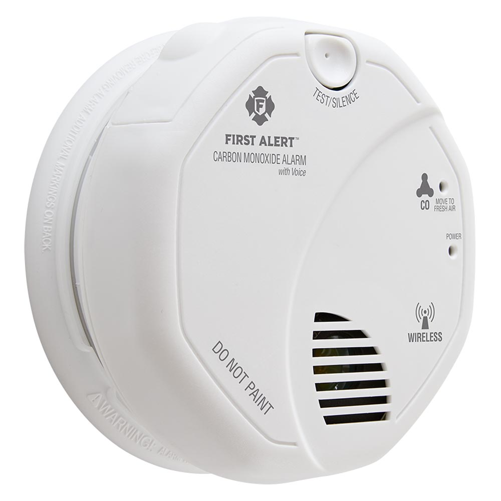 First Alert Wireless Interconnect Battery Operated Carbon Monoxide Alarm With Voice Location - CO511B