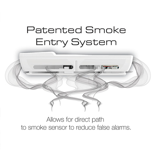 First Alert 10 Year Photoelectric Smoke Alarm with Escape Light, Designer Series - P910E