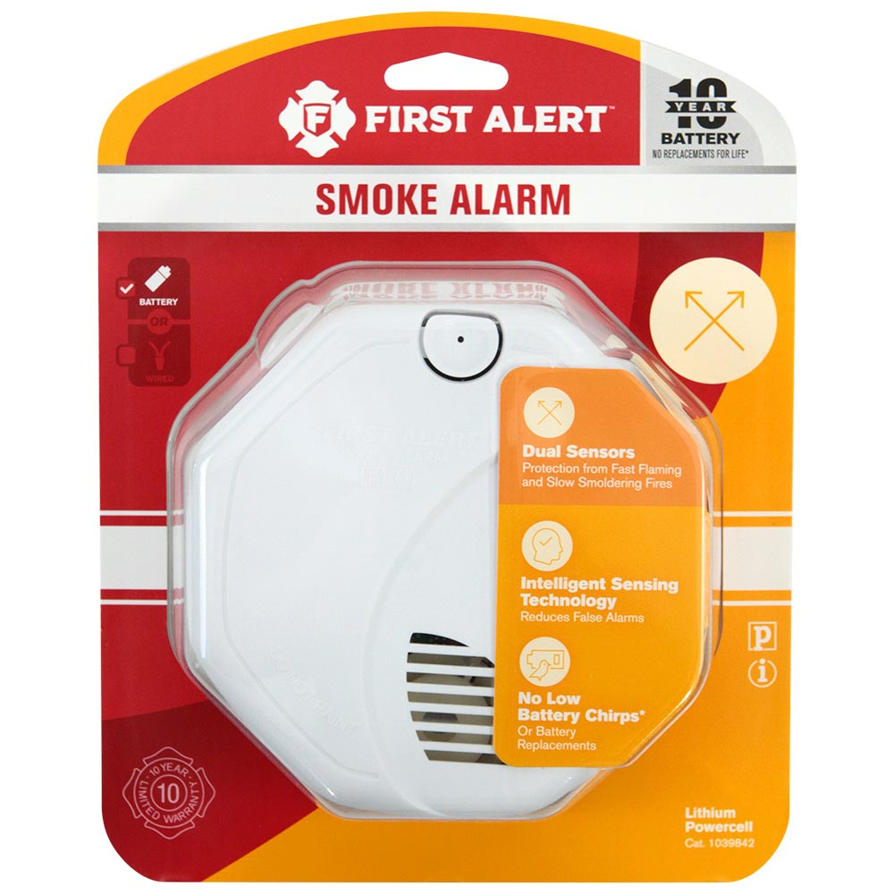First Alert Dual Sensor Photoelectric/Ionization Smoke and Fire Alarm with 10-Year Sealed Battery - SA3210 (1039842)