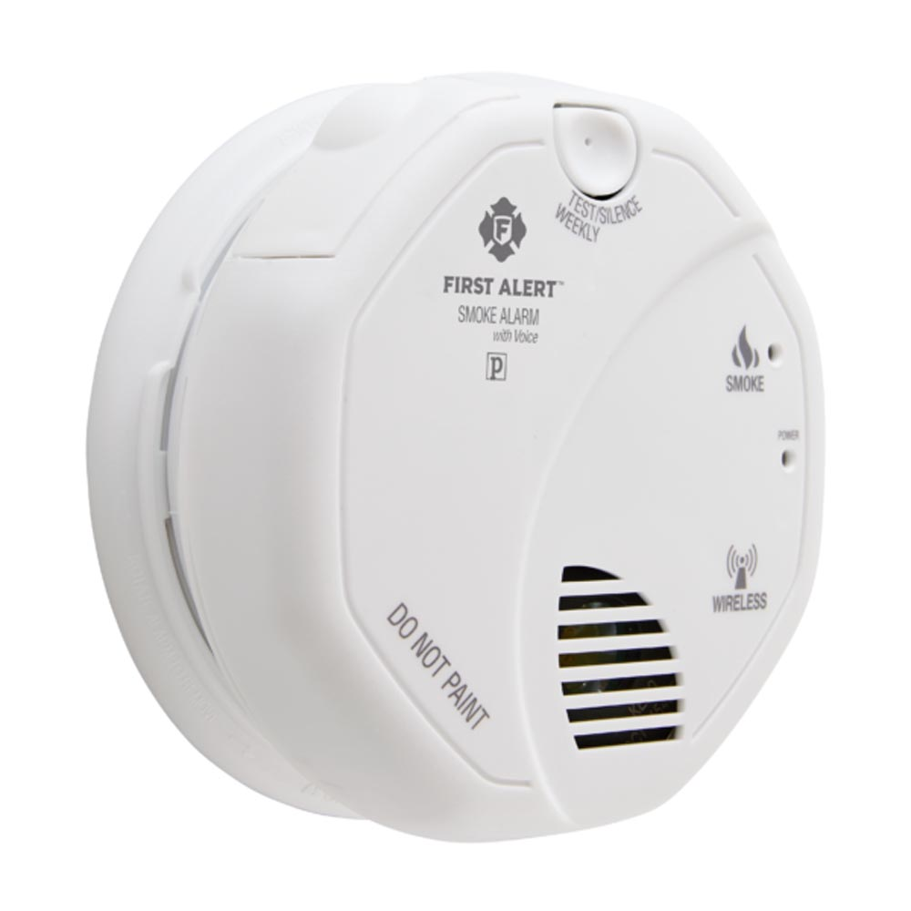 First Alert Wireless Interconnect Battery Operated Smoke Alarm With Voice Location - SA511B