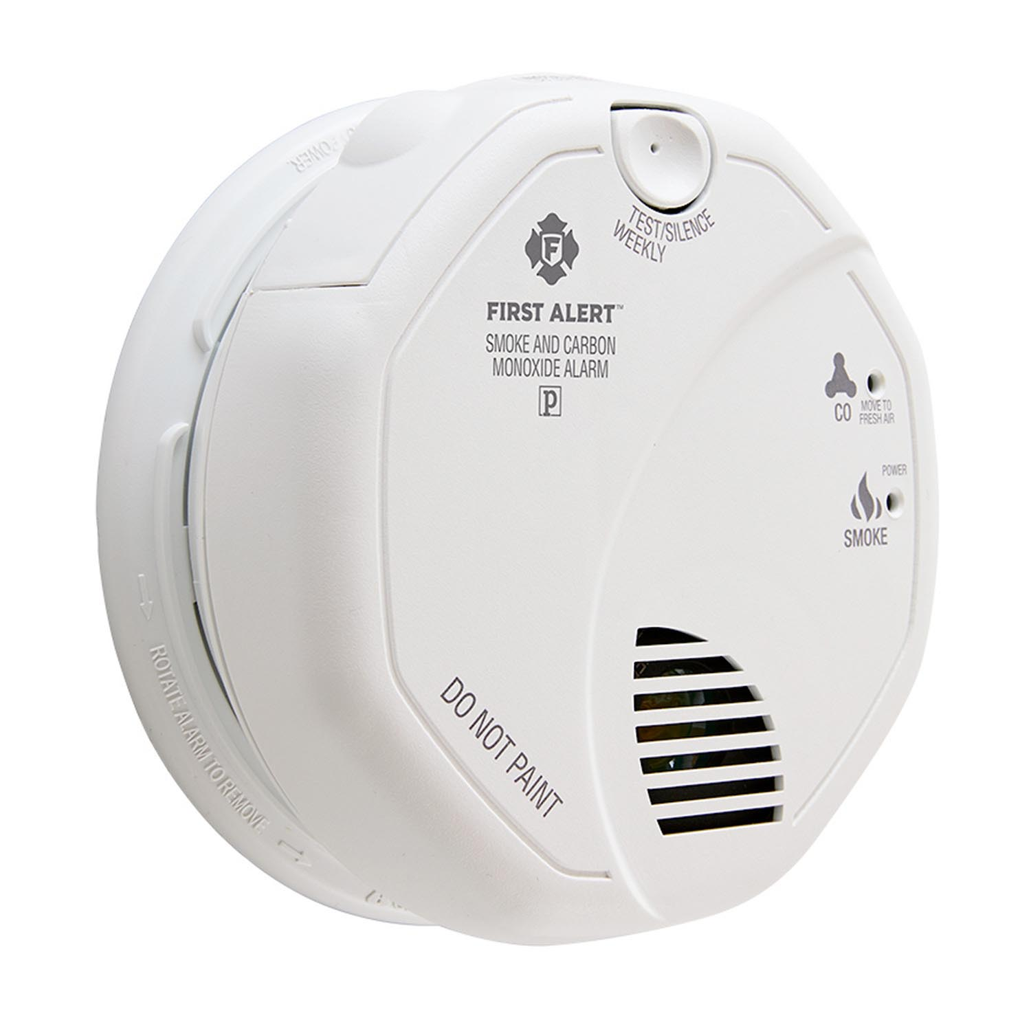First Alert Hardwired Photoelectric Smoke and Carbon Monoxide Alarm with Battery Backup - SC7010B