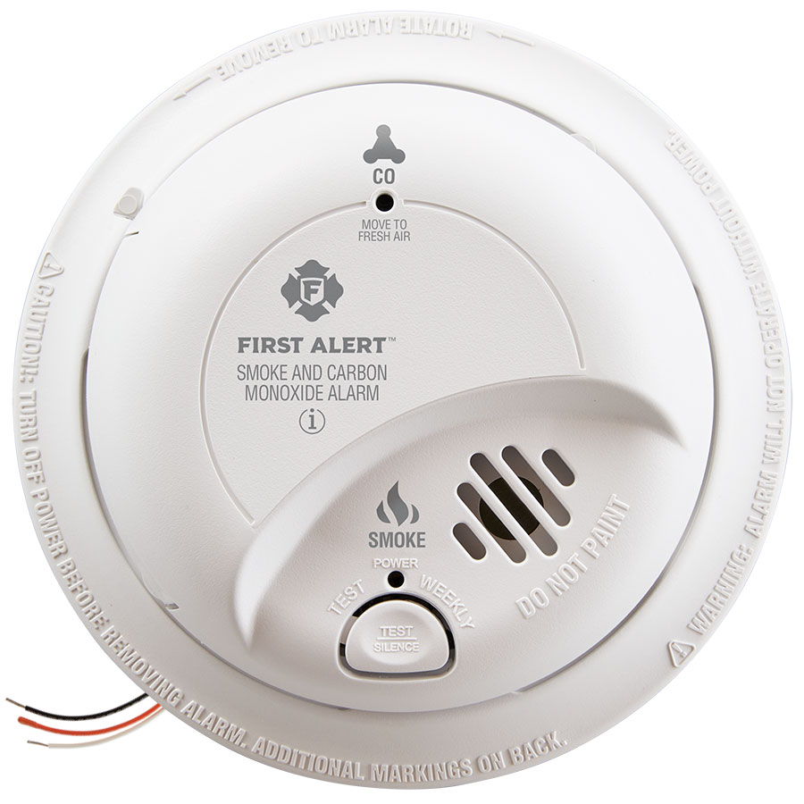 First Alert Hardwire Combination Smoke/Carbon Monoxide Alarm with Battery Backup - SC9120B