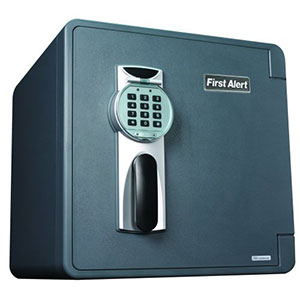 First Alert 2092DF Water, Fire and Theft Digital Safe,  1.31 Cubic Foot