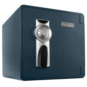 First Alert 1.3 Cubic Foot Water, Fire and Theft Combination Safe