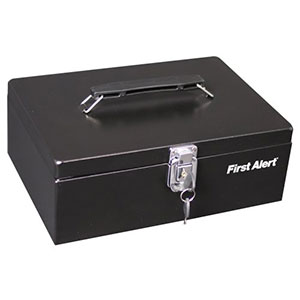 First Alert Steel Cash Box