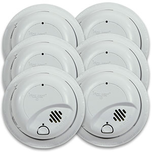 First Alert Hardwired Smoke Alarm with Battery Backup (6 pack) - 9120B6CP