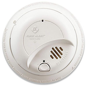First Alert BRK Brands Hardwire Smoke Alarm with 10-Year Sealed Battery, 9120LBL