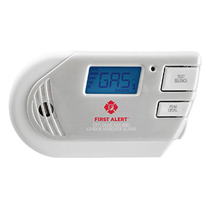 Combination Explosive Gas and Carbon Monoxide Alarm with Backlit Digital Display