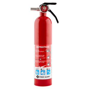 First Alert Rechargeable Garage Fire Extinguisher UL Rated 10-B:C (Red) - GARAGE10