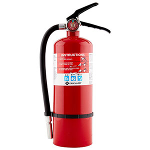 First Alert Rechargeable Heavy Duty Plus Fire Extinguisher UL rated 3-A:40-B:C (Red)