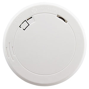 First Alert 10-Year Sealed Battery Photoelectric Smoke Alarm with Slim Design
